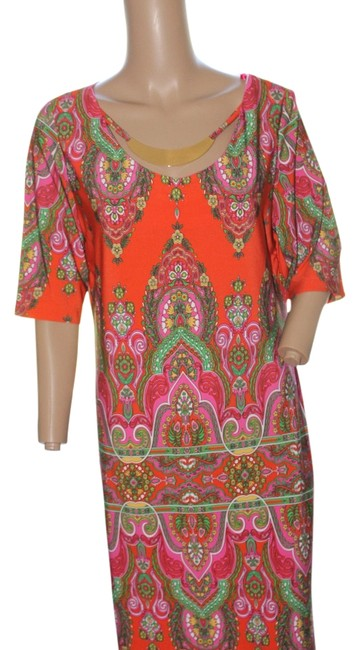 Preload https://img-static.tradesy.com/item/5557537/studio-one-paisley-orange-gold-pink-muse-detachable-necklace-short-workoffice-dress-size-8-m-0-0-650-650.jpg