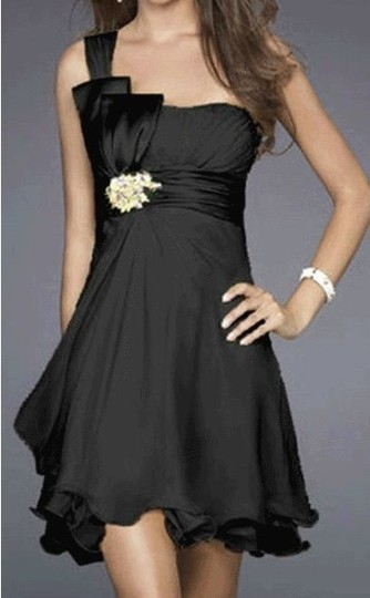 Preload https://item2.tradesy.com/images/black-chiffon-one-shoulder-pleated-w-rhinestones-feminine-bridesmaidmob-dress-size-4-s-555821-0-0.jpg?width=440&height=440