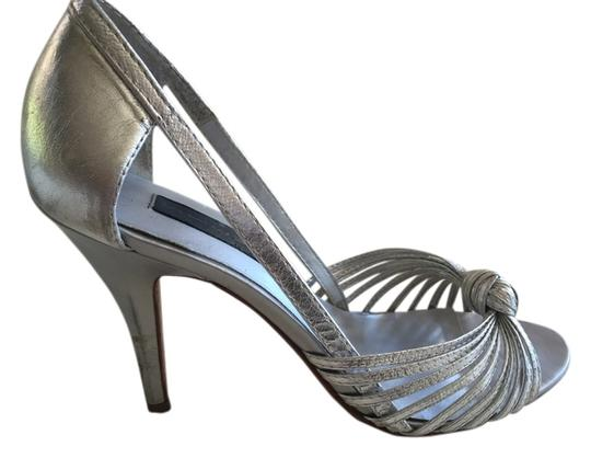 Steven by Steve Madden Knot Strappy Silver Sandals