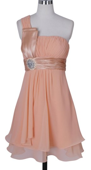 Preload https://item1.tradesy.com/images/peach-chiffon-one-shoulder-pleated-w-rhinestones-formal-bridesmaidmob-dress-size-4-s-555825-0-0.jpg?width=440&height=440