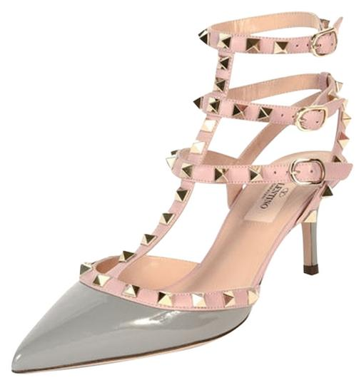 valentino rockstud kitten heels us8 5 eu38 5 grey pink pumps on sale 11 off pumps on sale at. Black Bedroom Furniture Sets. Home Design Ideas