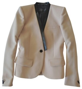 Barbara Bui Leather Blush Blazer