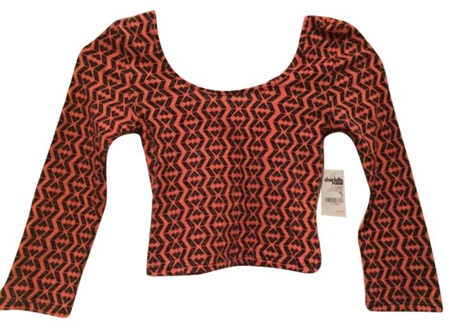 Charlotte Russe Top Orange and black