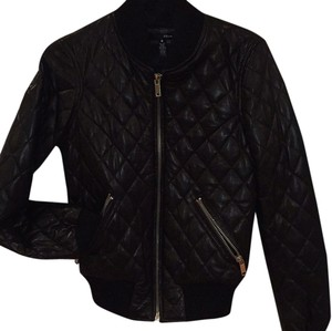 Aqua Blac Leather Jacket