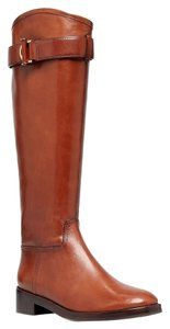 Tory Burch Grace Equestrian Riding Camel Women's Leather Size 10.5 Brown Boots