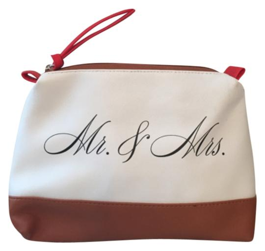 Preload https://img-static.tradesy.com/item/5558860/kenneth-cole-white-tan-mr-and-mrs-pouch-cosmetic-bag-0-0-540-540.jpg