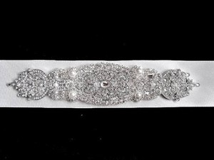 Other Bridal Wedding Sashes Beaded Jeweled Crystal Belt Sash Brooch Ribbon