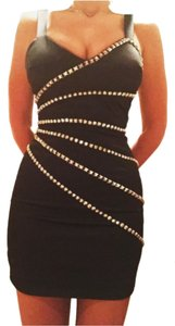 bebe Studded Evening Dress