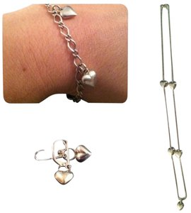 4 piece sterling silver heart charm bundle