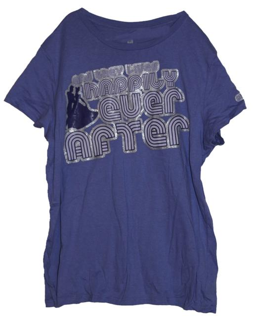 Disney T Shirt Purple and Silver
