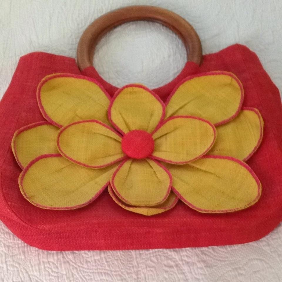 Mar Y Sol Guadeloupe Flower Yellow Pink Tote Tradesy