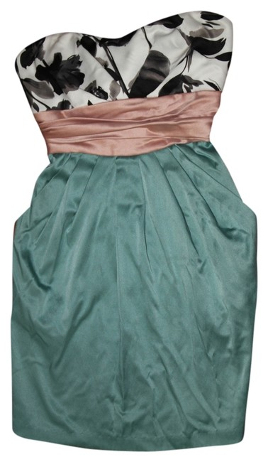 Forever 21 short dress Flowered/Dusty Pink/Teal on Tradesy