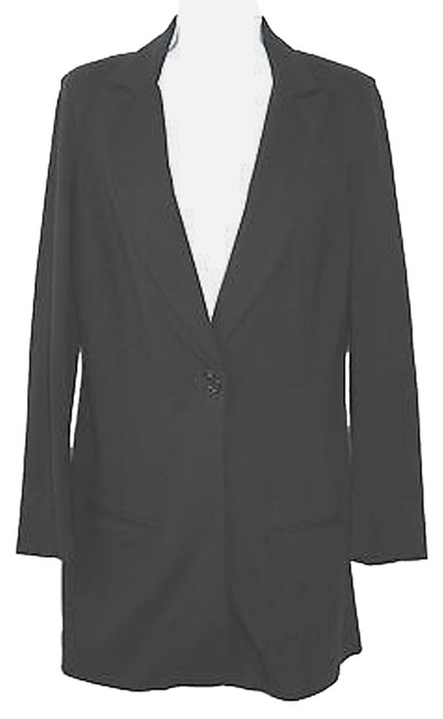 7 For All Mankind Black Single Breasted Blazer