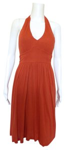 Banana Republic short dress Orange Halter on Tradesy