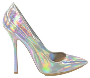 Stella McCartney Holographic silver Pumps