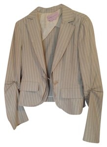 BCBGMAXAZRIA Blazer Cropped Max Azria Beige and white stripe Jacket
