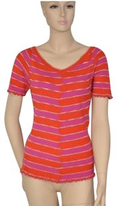 M Missoni Orange Zigzag Tunic