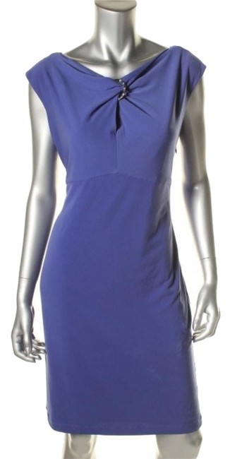 Muse Blue Above Knee Work/Office Dress Size 4 (S) Muse Blue Above Knee Work/Office Dress Size 4 (S) Image 1