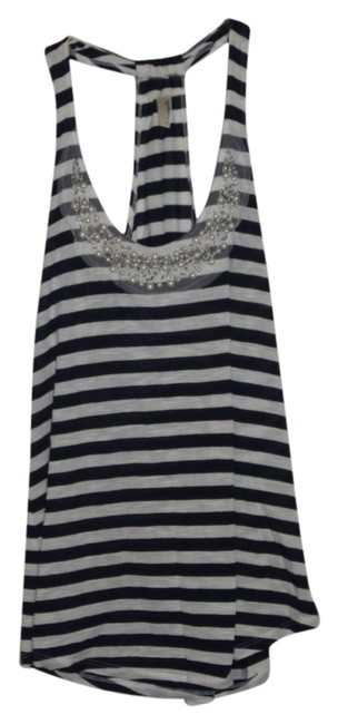 Preload https://item1.tradesy.com/images/blue-and-white-tank-topcami-size-8-m-5559865-0-0.jpg?width=400&height=650