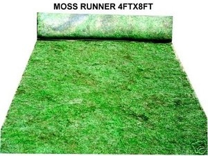 4'x8' Moss Runner Aisle Table Centerpiece Placemats Moss Cloth Display Sheet Moss Weddding Floral Venue Decorations