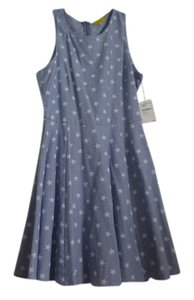 dee elle short dress Blue with white stars on Tradesy