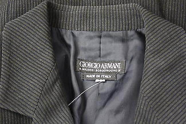 Giorgio Armani Striped Single Breasted Blazer