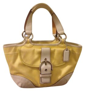 Coach Satchel in Yellow