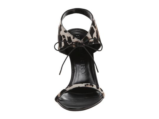 Burberry Askham Stone Red Animal Print Multi Sandals