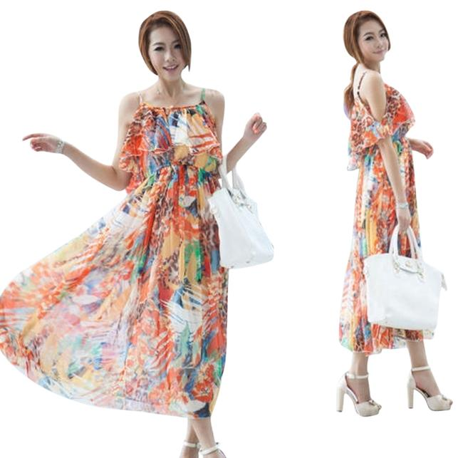Preload https://item2.tradesy.com/images/multi-bright-orangegreengold-mid-length-night-out-dress-size-12-l-5560246-0-0.jpg?width=400&height=650
