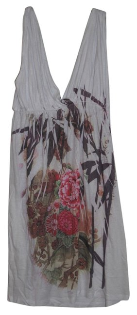 Preload https://item2.tradesy.com/images/belleza-jewelry-white-flowered-above-knee-short-casual-dress-size-12-l-5560291-0-0.jpg?width=400&height=650