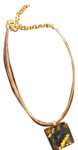 Chico's Chico's Vintage Abalone Gold Strings Necklace
