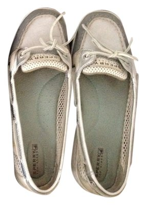 Sperry Boat Open Mesh Grey Flats