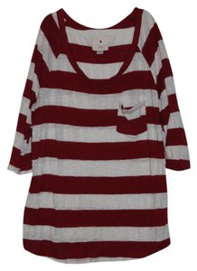 Forever 21 T Shirt Red and White Stripes