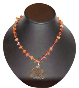 Rust / Brown Tooth Style Necklace with