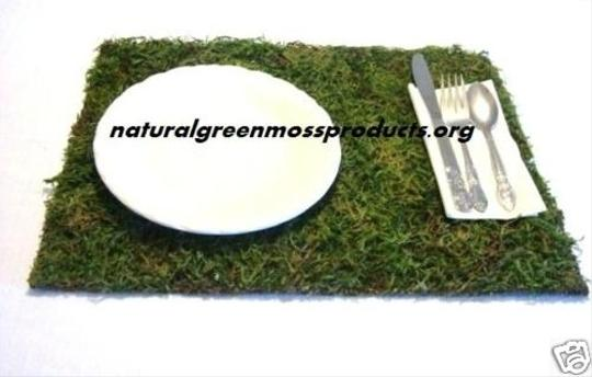 6 Moss Placemats Cake Topper Number Mossed Garden Natural Woodsey Rustic Lace Burlap Outdoor Wedding Backyard Ceremony