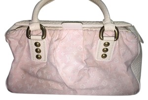 Louis Vuitton Satchel in Pink and white