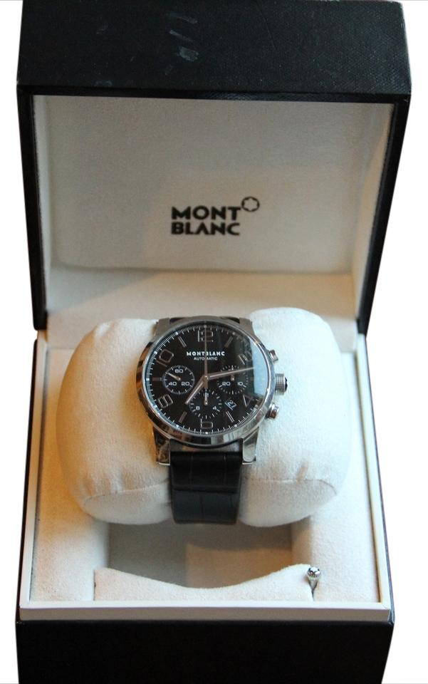 watch product raton flyback boca stainless mount chronograph watches montblanc black steel