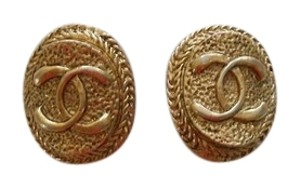 Chanel Chanel Vintage Goldtone Earrings Late 80's.