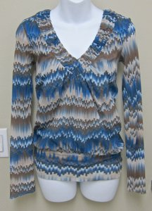 Sweet Pea by Stacy Frati Top Turquoise & Brown