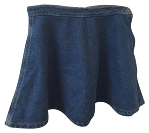 American Apparel Mini Skirt Dark wash indigo