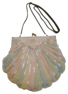Walborg Vintage Cosmetic whit, blue, pink Clutch
