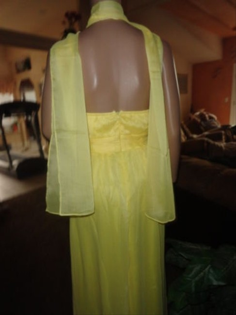 BRIGHT YELLOW Maxi Dress by Donna Bella