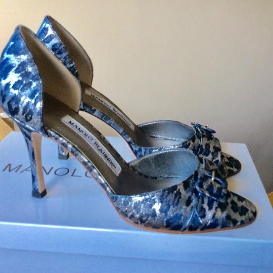 Manolo Blahnik Silver/Black Formal