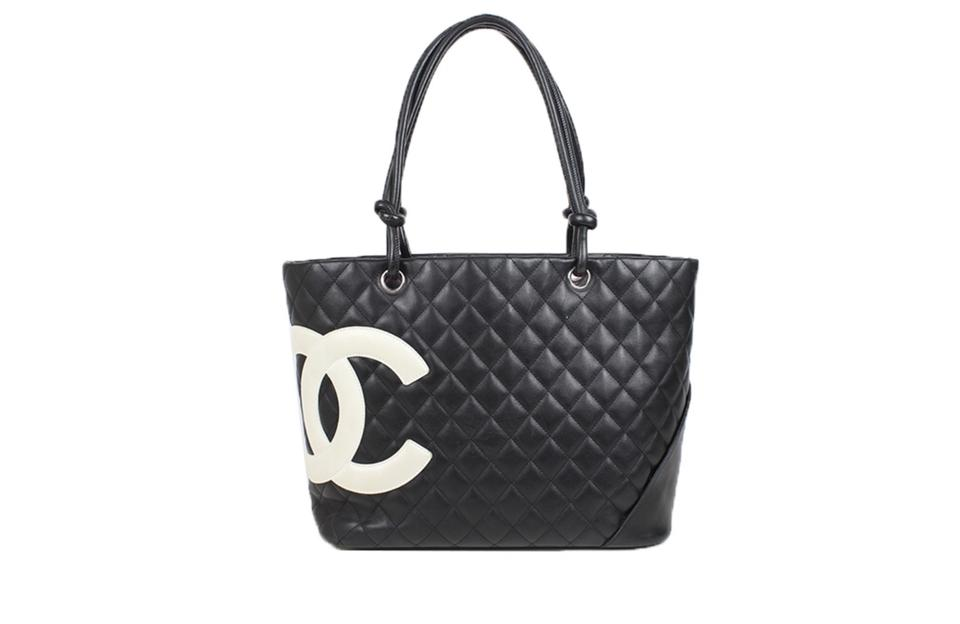 ff5ffb4fcfb32 Chanel Cambon Calfskin Quilted Black Calf Leather Shoulder Bag - Tradesy