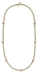 Michael Kors MKJ3723 Michael Kors Padlock Station Women Necklace Gold Tone 32