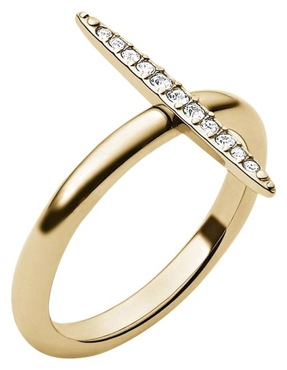 Michael Kors MKJ3522 Michael Kors Brilliance Matchstick Ring Gold Tone Crystal Pave Sz 6