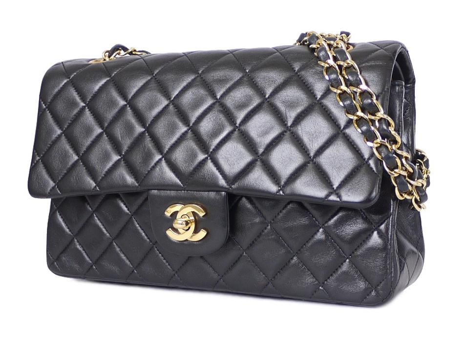 2982699f5ea4 Chanel 2.55 Reissue Double Flap Classic 25cm Black Lambskin Shoulder Bag -  Tradesy