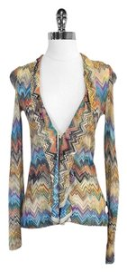 Missoni Multi Color Chevron Knit Cardigan