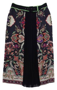 Etro Multi Color Paisley Print Skirt