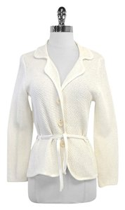 Max Mara White Knit Cotton Sweater